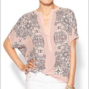 BCBGMAXAZRIA Women's Ayanna Oversized Scarf Shirt
